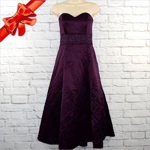 Strapless Sweetheart Tulle Slip Dress ~b0eu6p1w0